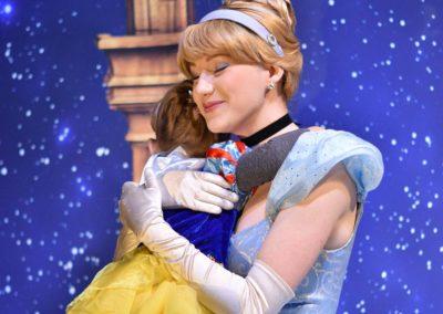 Elissa portraying Cinderella at Glad Tidings